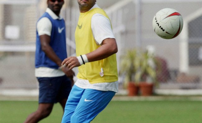 India A player Yuvraj Singh during a practice session in Mumbai on Monday
