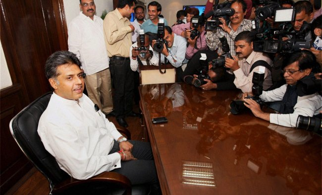 Manish Tewari takes charge as MOS (Independent Charge) for Information and Broadcasting