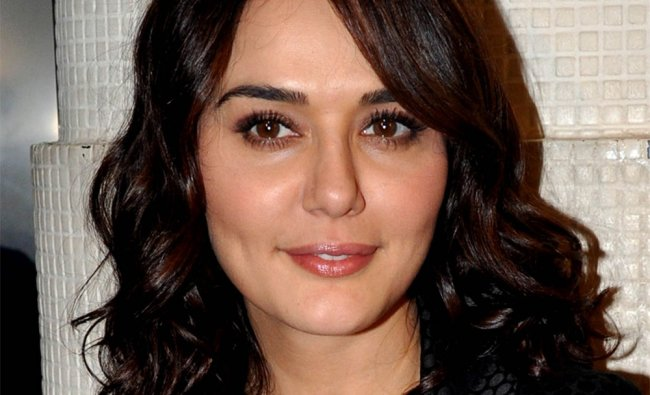 Preity Zinta poses during the launch of singer Sophie Choudry\'s new video