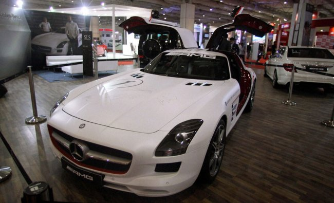 A car on display during the Autocar Performance Show 2012 in Mumbai on Thursday.