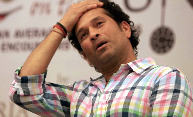 Crickter Sachin Tendulkar at the release of a book \'Cooking For the run\' by author Boria Mujumdar..