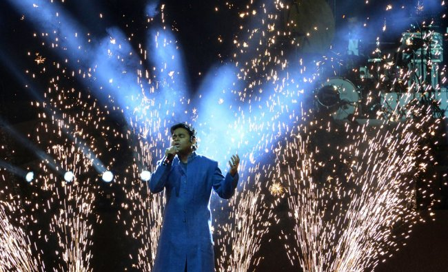 Musician and Oscar awardee A.R. Rahman performs at a concert