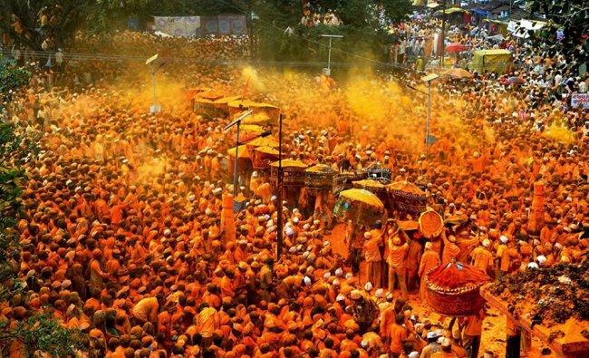 Shepherd community devotees from Maharashtra, Karnataka and Andhra Pradesh take part...