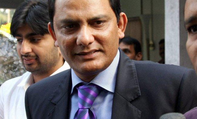 Former Cricketer and Congress MP Mohd Azharuddin talking to the media in New Delhi