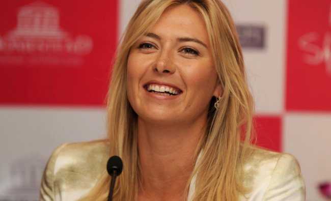 Maria Sharapova at a promotional event for a real estate company, in New Delhi