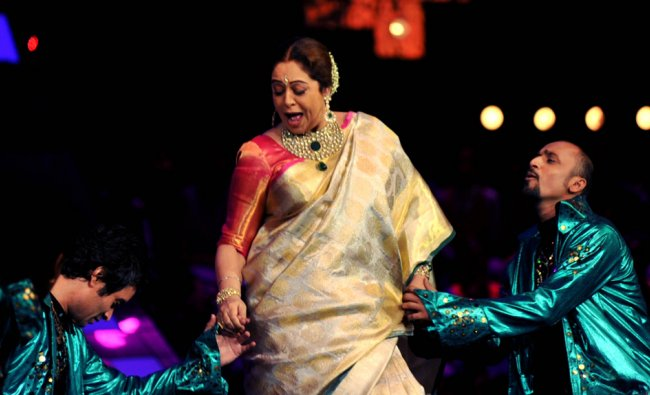 ndian Bollywood actress Kirron Kher, a judge of television show Indias Got Talent...