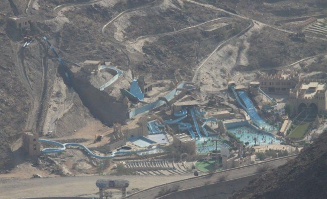 View of water park montain range,Saudi Arabia Photo by Naeem Khan...
