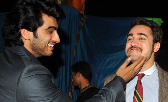 Arjun Kapoor and Imran Khan pose as they attend a promotional event \'Chivas Studio 2012\'