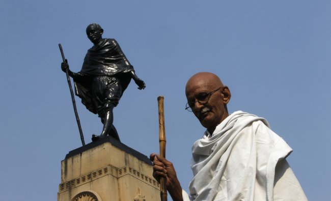 Mahesh Chaturvedi who dresses up like Mahatma Gandhi says that the soul of Gandhi resides in him