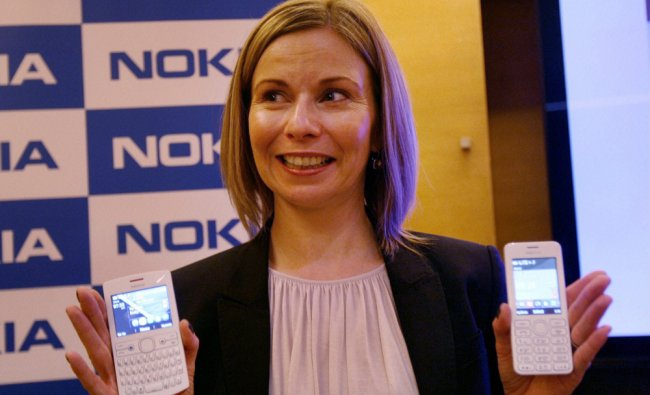 Sari Harju, Head Mobile Phones, Nokia introduces their new products Nokia 206 and Nkoia Asha 205...