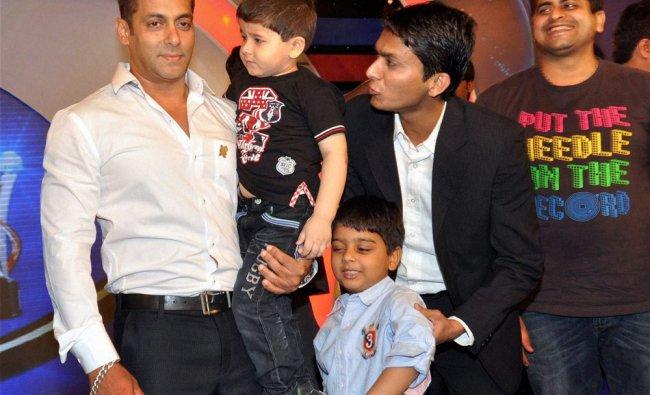 Bollywood actor Salman Khan during felicitation of special athletes at an award ceremony in Mumbai