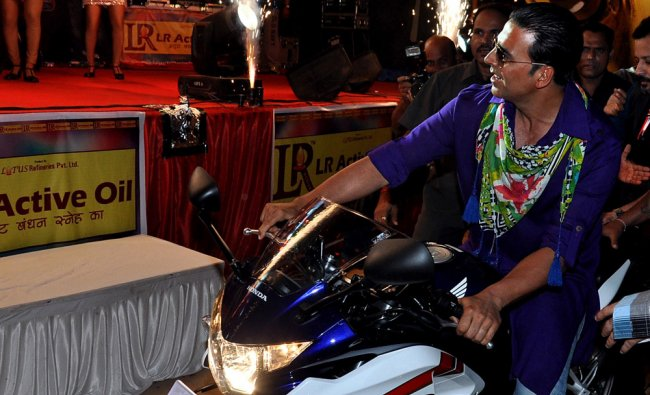 Akshay Kumar arrives for a promotional event for the forthcoming Hindi film Khiladi 786...