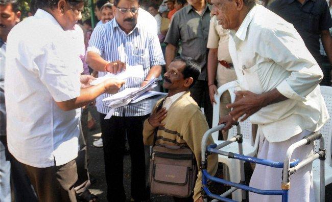 Karnataka Chief Minister Jagadish Shettar meeting grievances of people in Bengaluru...