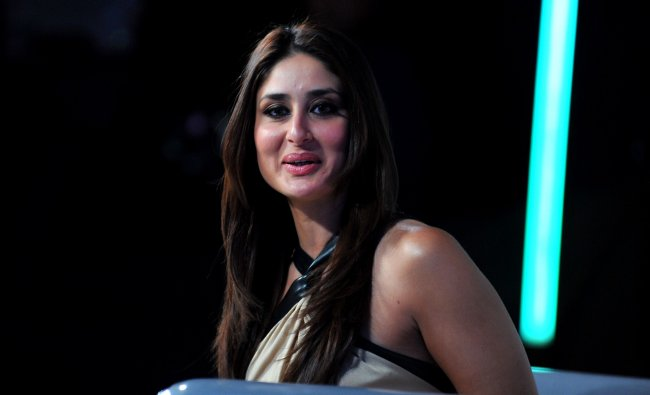 Kareena Kapoor poses on the set of a television show during the promotion of the forthcoming film...