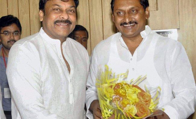 Union Tourism Minister K Chrinjeevi meeting Chief Minister of Andhra Pradesh N. Kiran Kumar Reddy...