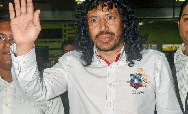 Famous soccer player and former Colombian goal keeper Jose Rene Higuita in Kolkata...