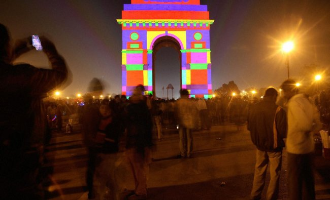 A special 3D projection during the grand finale of the 60th Anniversary of Japan-India diplomatic...