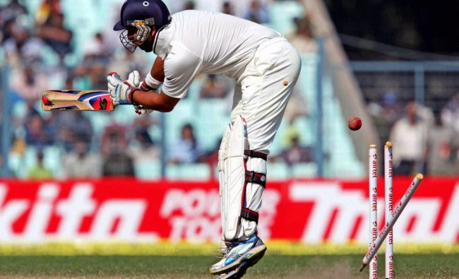 Yuvraj Singh is dismissed during Day 4 of the 3rd Test Match against England...
