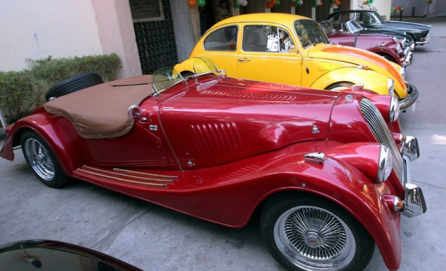 Vintage cars at the car rally organised by the JK Tyre and Constitution Club of India in New Delhi..