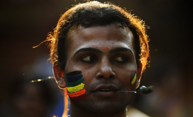 A member of the LGBT (Lesbian, Gay, Bi-sexual and Transgender) community participates in a game...