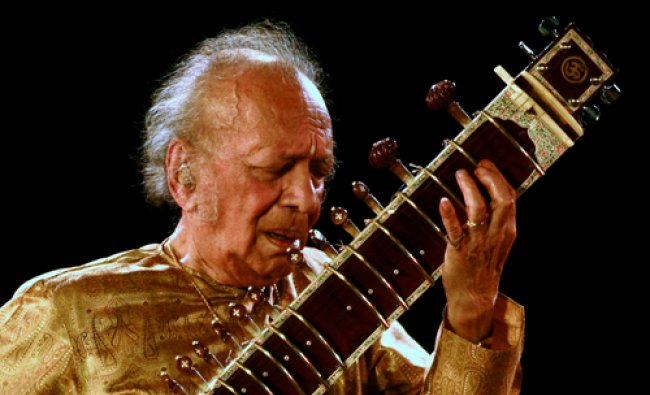 Indian sitar player Ravi Shankar performs in the eastern Indian city of Kolkata in this ...