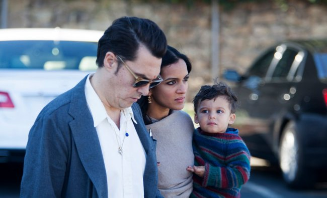 Daughter Anoushka Shankar, her husband Joe Wright and their son Zubin arrive at memorial services...