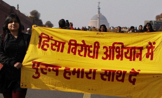 All India Democratic Women s Association protest march against Delhi rape...