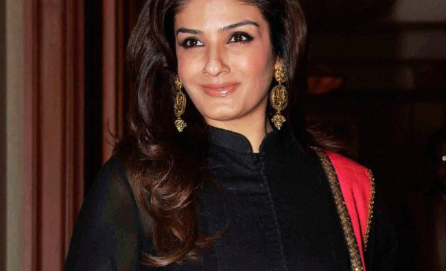 Actor Raveena Tandon at the launch of a cancer-detection kit in Mumbai...