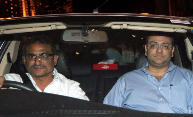 Cyrus Mistry, who succeeds Ratan Tata as Chairman of the Tata Group, leaves from Bombay House