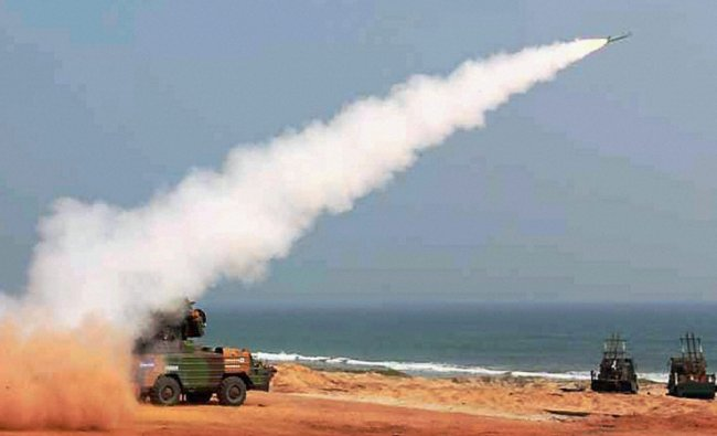 First phase of Fire Power Demonstration at Army Air Defence Academy at Rangeilunda in Berhampur...