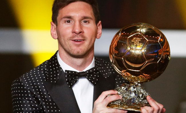 Lionel Messi of Argentina, FIFA World Player of the Year 2012...
