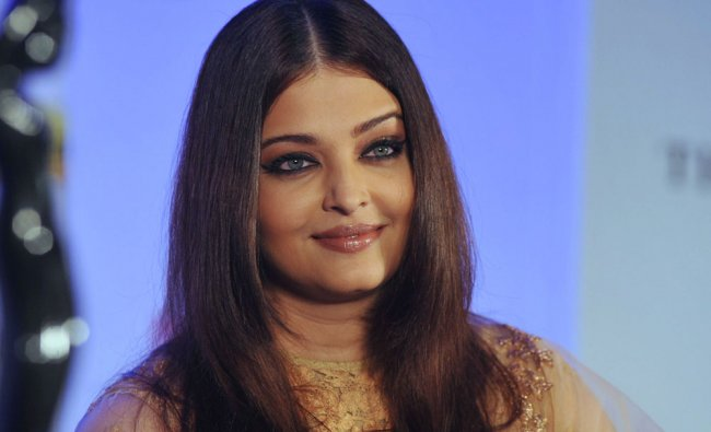 Indian Bollywood actress Aishwarya Rai Bachchan attends a press conference and announcement....