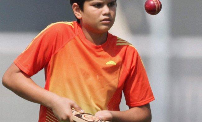 Sachin Tendulkar\'s son Arjun Tendulkar who has been selected to represent Mumbai team for under...