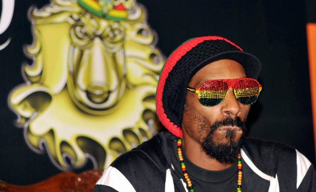 International rap artist Snoop Dogg during a press conference in Mumbai on Thursday.