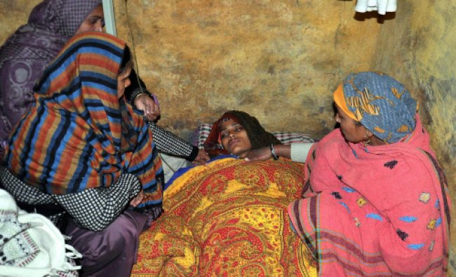 Dharamwati, wife of slain army soldier during her hunger strike
