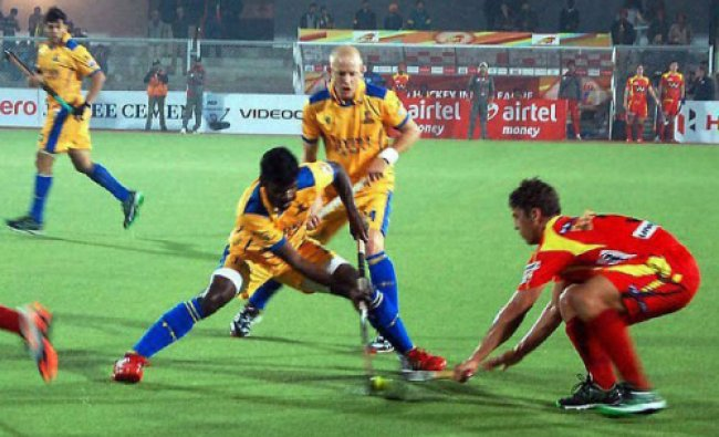Hockey India League match in Jalandhar