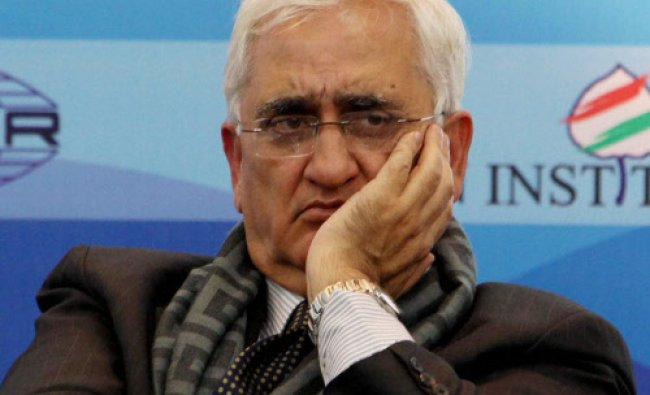 External Affairs Minister Salman Khurshid during the launching of report\' BIT and Beyond advancing I