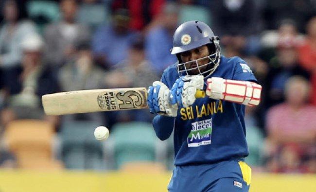 Tillakaratne Dilshan of Sri Lanka plays a shot during their one day international cricket match...