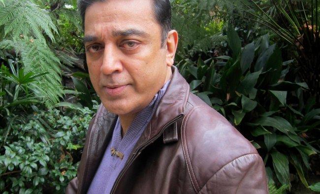 Kamal Haasan, star of the film \'Vishwaroopam\' poses during an interview in LA