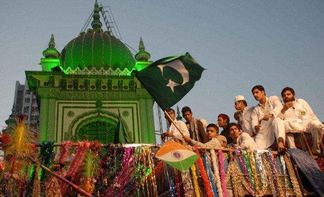 Muslims celebrate Eid Milad-un-Nabi in Mumbai on Friday. PTI Photo