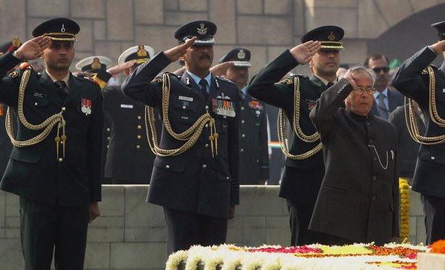 Pranab Mukherjee paying tributes to father of the nation, Mahatma Gandhi on his death anniversary...