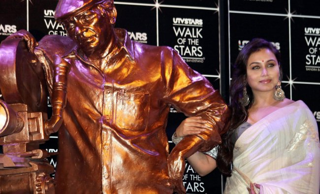 Rani Mukherjee during the unveiling ceremony of the statue of legendry filmmaker Yash Chopra