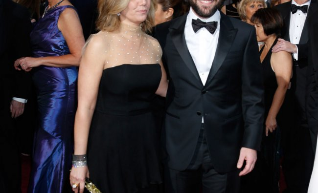 Actor Paul Rudd, right, and Julie Yaeger arrive at the Oscars at the Dolby Theatre on Sunday Feb...