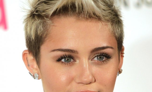 Miley Cyrus arrives for the 21st Annual Elton John AIDS Foundation\'s Oscar Viewing Party February 24