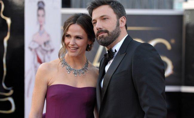 Jennifer Garner, left, and Ben Affleck arrive at the Oscars at the Dolby Theatre on Sunday Feb. 24..