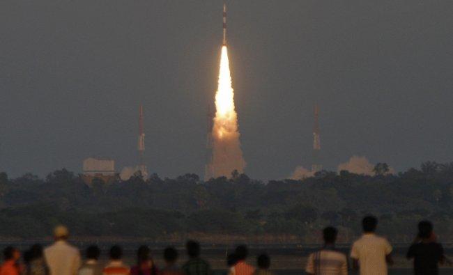 India\'s PSLV C-20 blasts off...