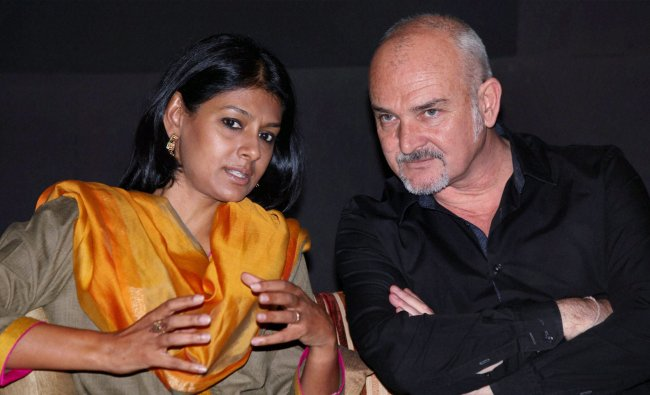 Actor-director Nandita Das and French Director Eric Vigner at a press meet at Bonjour India 2013...