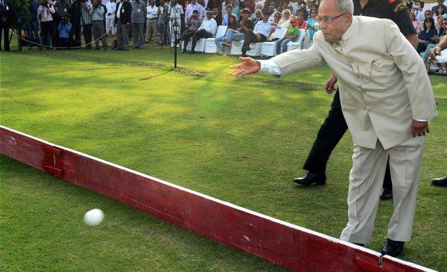 President Pranab Mukherjee inagurates President\'s Polo Cup, Inaugural Exhibition match...