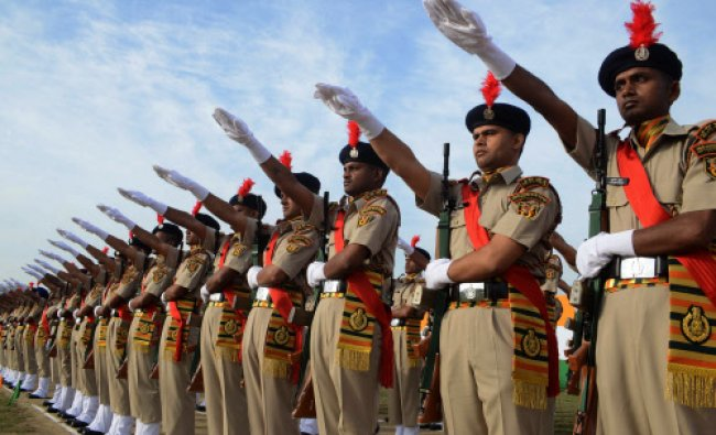 Indo -Tibetan Border Police Force (ITBPF) recruits participate in a passing out parade...