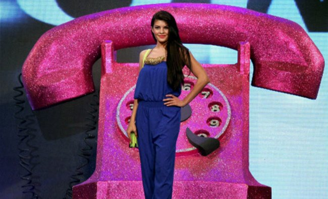 Actress Jacqueline Fernandez walks the ramp at a fashion event in Mumbai...